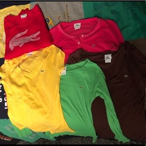 5-pack Lacoste Shirts / Sweater (Size 40)